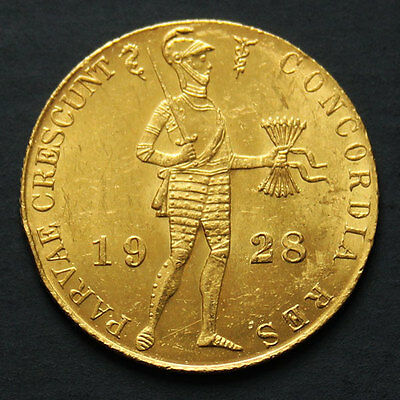Piece or 1 ducat Pays Bas 1928 Netherlands 1 ducat gold coin