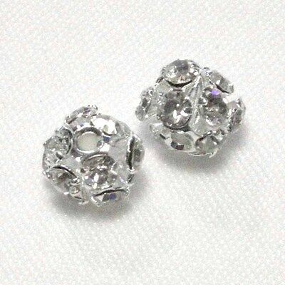 5 pz - Perle a Strass 6 mm - Crystal