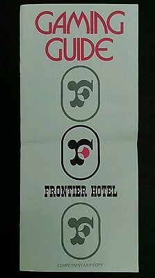 Vtg. 1960's FRONTIER HOTEL CASINO Las Vegas gambling guests GAMING GUIDE booklet