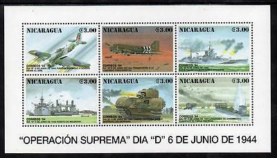 Nicaragua MNH 1994 The 50th Anniversary of D-Day M/S