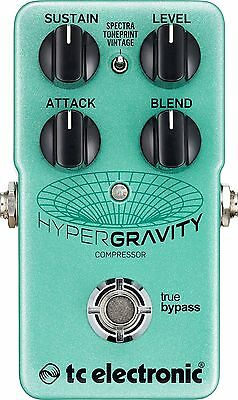 New TC Electronic HyperGravity Compressor Guitar Effects Pedal!!!