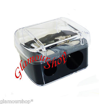 Body Collection Cosmetic DUO Pencil Sharpener with cover lid Eyeliner Lip Liner