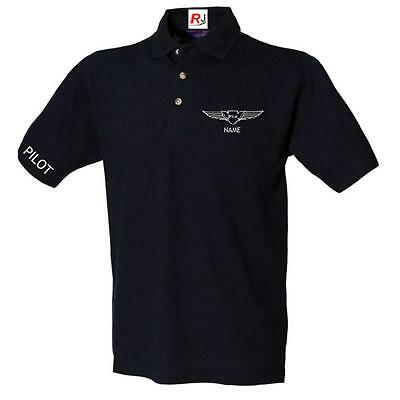 Aeroclassic - Personalised Aviation CPL PPL Pilot Polo Shirt