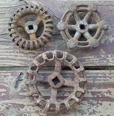 Vtg Valve Handles Water Faucet Knob Steampunk Industrial Altered Art Powell 3.75