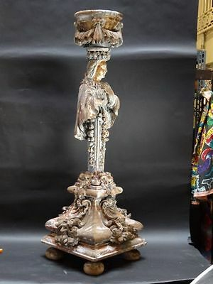 17th Century Baroque Carved and Gilded Wooden Girandole