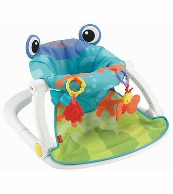 Infant Seat Activity Center Sit Me Up Floor Seat Frog Portable Baby Play Walker