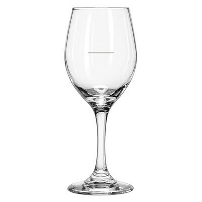 12x Wine Glass, 326mL, Portion Control Line, Libbey 'Perception', Commercial
