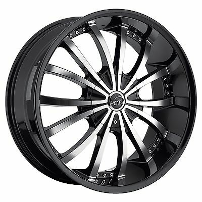 20 Inch Black Vct Mancini Wheels Cadillac Ats Cts Deville Sts