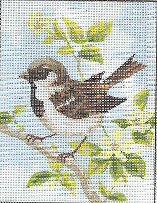 LITTLE BROWN SPARROW study tapestry  20X25CM CANVAS ONLY OR KIT - YOUR CHOICE!
