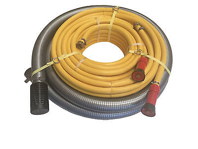 "Fire Fighting Hose Kit - 1x 1 1/2"" Suction Hose + 2x 3/4"" Discharge Hose"