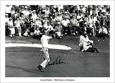 Arnold Palmer Signed Print Photo Poster Wall Decor Art Golf 1964 The Masters