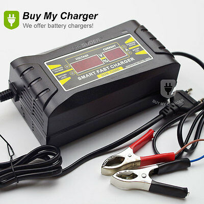 Full Automatic Smart 12v 6a Lead Acid/GEL Battery Charger with LCD Display