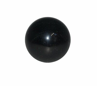 Black Obsidian Crystal Sphere Cut and Polished Mineral - 40mm Diameter