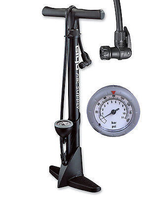 GIYO Bicycle Bike High Pressure Floor Pump with Gauge 160 psi Black