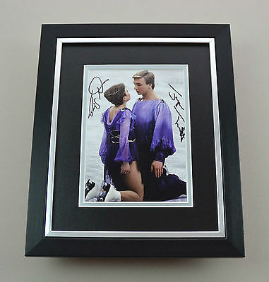 Jayne Torvill & Christopher Dean Signed 10x8 Photo Framed Autograph Display +COA