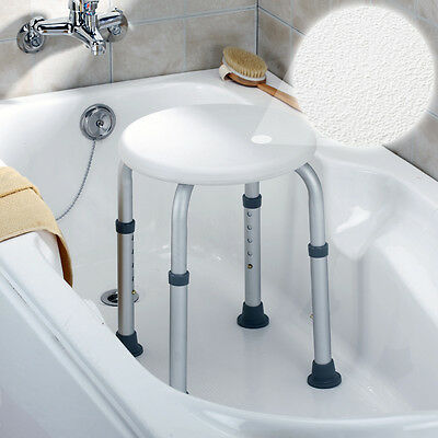 Round Bath and Shower Stool Seat Chair Adjustable Lightweight Aluminium Aid