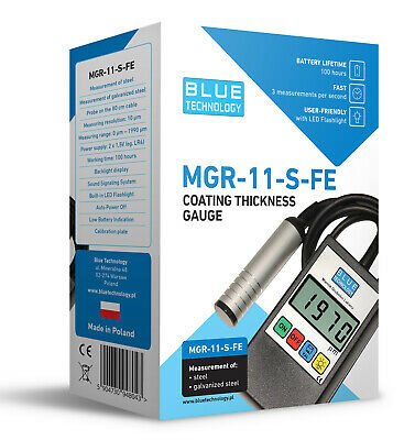 Paint Coating Thickness Gauge for Cars  MGR-11-S-FE  VIDEO PRESENTATION