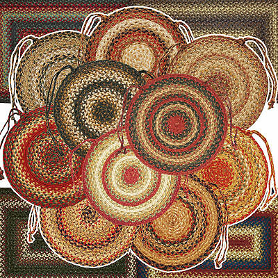 Braided Jute Chair Pads by Homespice Decor (Set of 4) 15 Inch Diameter