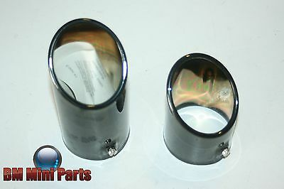 Bmw E46 Black Chrome Twin Exhaust Tailpipe Trim Nla 82129410931
