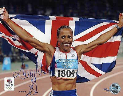 Kelly Holmes-Olympics-Athens 04-Official Team Gb Signed Photograph-Aftal/uacc Rd