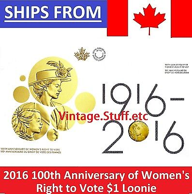 * 2016 Canada Women's Right to Vote Collector Card / Folder (WITH COIN) *