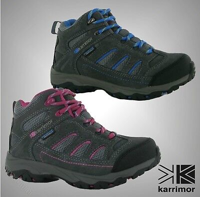 New Kids Boys Girls Karrimor Breathable Mount Mid Walking Shoes Boots Size C10-2