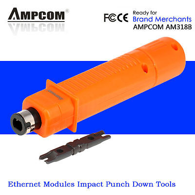 Ampcom RJ45 RJ11 Modular Network Telephone Cable Cutting Punch Down Impact Tools