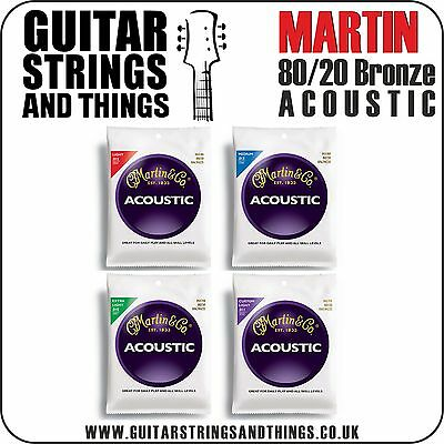 Martin 80/20 BRONZE Acoustic Guitar Strings - ALL GAUGES 6 String