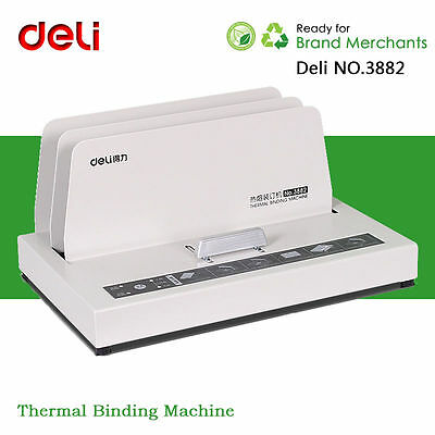 Deli Automatic Thermal Binding Machine For Contract Document Invoice Folder Bind