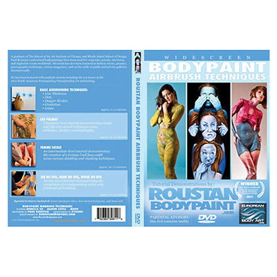 European Body Art Body Paint Airbrush Techniques DVD by Paul Roustan