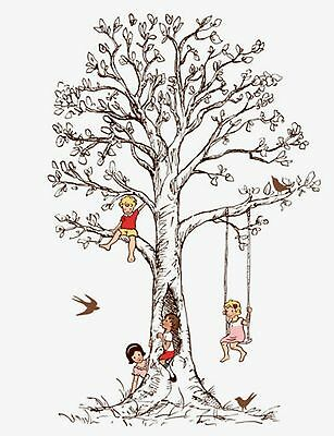 """Sarah Jane  """"Children At Play"""" Family Tree Fabric Wall Decal from Pop & Ollie"""