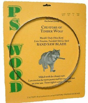 "Timber Wolf Bandsaw Blade 93.5"" x 1/2"" x 3 TPI x .025 Thickness, New, Free Shipp"