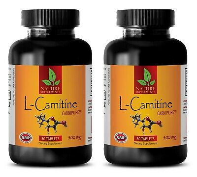 L-Carnitine 500mg w/ Vitamin B6 Muscle Endurance Recovery Energy 60 Tablets 2 B