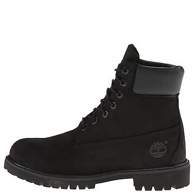 Timberland 6 Inch Premium Black Women's Waterproof Lace Up Boots 8658A