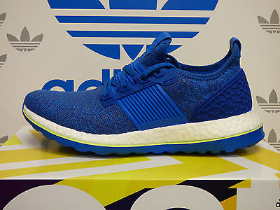 NEW ADIDAS Pure Boost ZG Men's Running Shoes - Blue/White; AQ2929