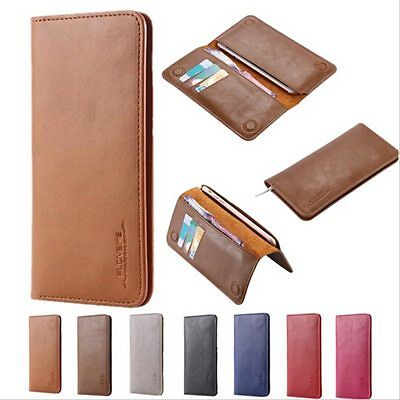 Magnetic Genuine Leather Case Wallet Card Slots Flip Cover for Samsung iPhone