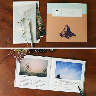 5x7 Edito Real Photo Book - Pink - Paper Frame Type Slip in Photo Album Book