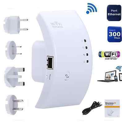300Mbps WirelessN WiFi Repeater AP Router Range Signal Extender Booster802.11 US