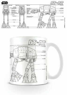 Star Wars - Ceramic Coffee Mug / Cup (At At Sketch)