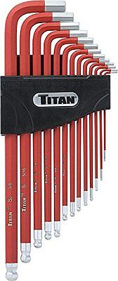 Titan 12713 Extra-Long Arm Ball Tip SAE Hex Key Set, 13 Piece, New, Free Shippin