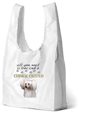 Chinese Crested Dog Printed Design Eco-Friendly Foldable Shopping Bag BCRESTED-3