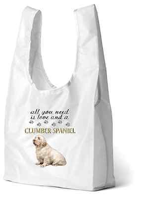 Clumber Spaniel Dog Printed Design Eco-Friendly Foldable Shopping Bag BCLUMBER-1