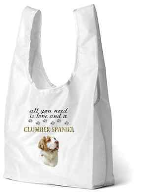 Clumber Spaniel Dog Printed Design Eco-Friendly Foldable Shopping Bag BCLUMBER-2