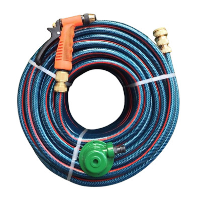 "70M Flex 12MM Water Hose Brass Fittings & Gun 8/10 Non-Kink Bonus 1/2"" Sprinkler"