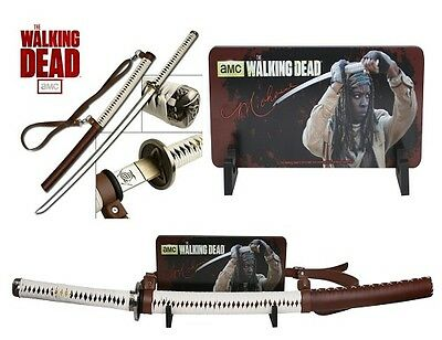 The Walking Dead Michonne Sword w/ Free Stand & Poster - AMC Licensed