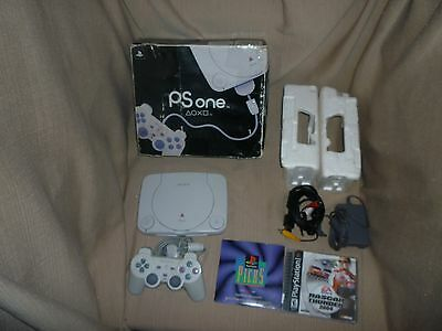 PSone Game System Console Complete in Original Box Tested + Nascar Thunder 2004