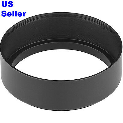 NEW Quality 49mm Standard Metal Screw-in Lens Hood for Canon Nikon Sony Pentax