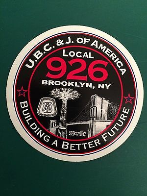 UNITED BROTHERHOOD of CARPENTERS Local Union 926 New York City HARD HAT STICKER