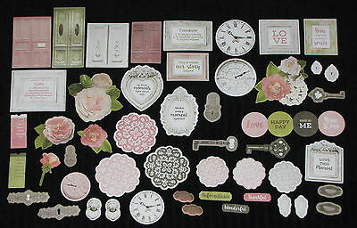 Kaisercraft 'COTTAGE ROSE' Collectables Die Cut Shapes Shabby Chic KAISER
