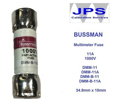 BUSS DMM 11A FUSE 1000V Replacement Fuse Fluke Testers and Test Leads JPSF033a
